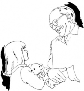 grandfather-is-playing-with-grandchildren-coloring-page